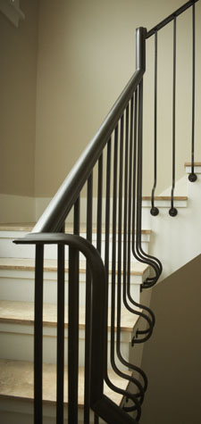 Interior design detail of staircase